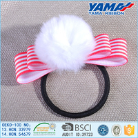 Wholesale girls love high elastic comfortable pink hair band