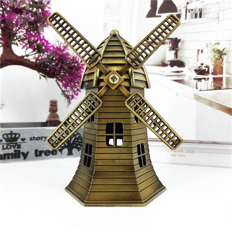 Holland windmill souvenir metal crafts house decoration beautiful ornaments
