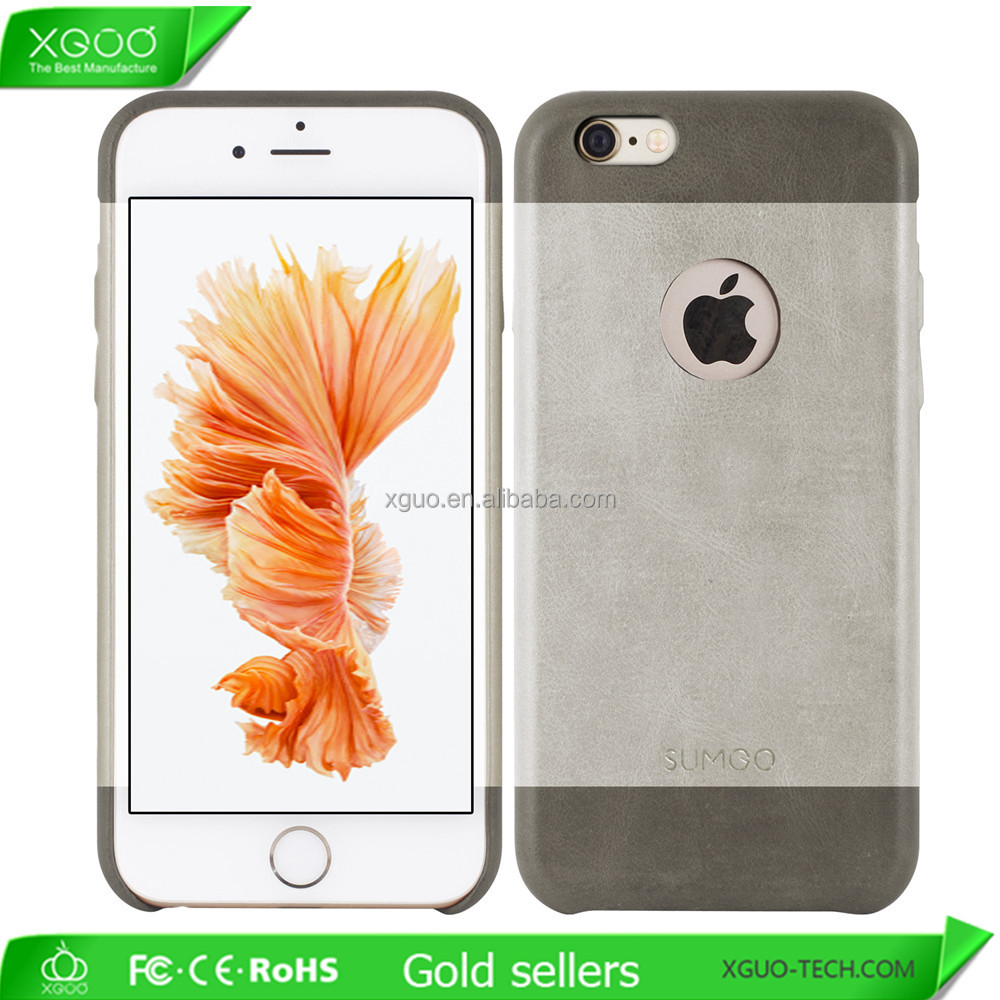 Wholesale Ultra Slim Luxury Leather Case for iphone , Genuine Leather Case for iphone 6