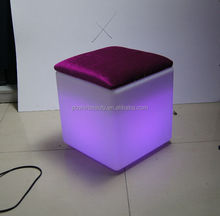 illuminated RGB colorchanging led ice cube lighting with Flannel cushion