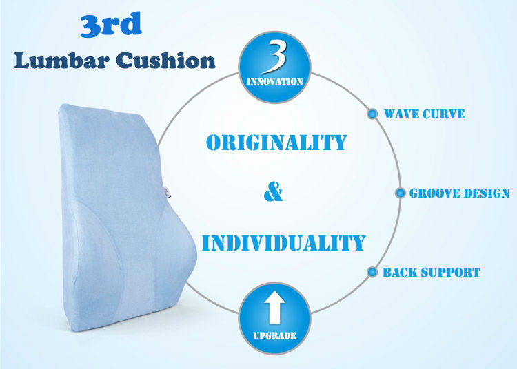 New Product Back Portable Cushion Pillow Lumbar Back Support Car Seat Lumbar Cushion