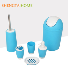 household stainless steel handle bathroom sets sanitary with plastic soap case
