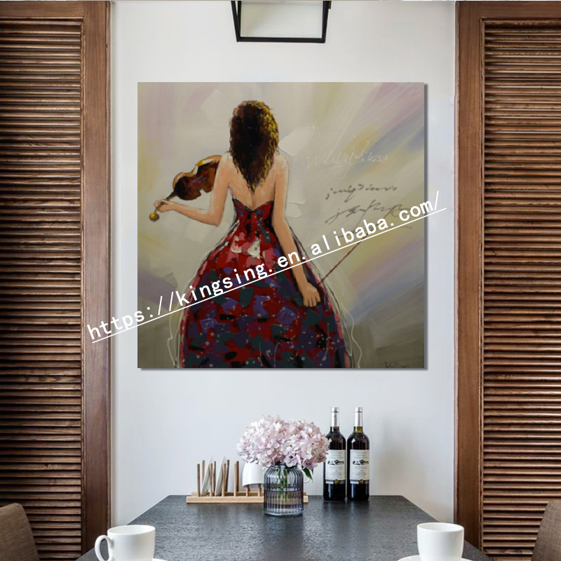 Best Sale  Modern Hot Sex Photo Oil Painting on canvas Dancing Ballet Girl Hand Painted Oil Painting for sale and decoration