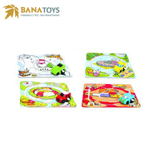 Colorful plastic puzzle track wind up toy car