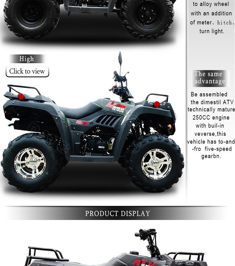 High Performance 250cc Quad Bikes 4x4 Low Prices
