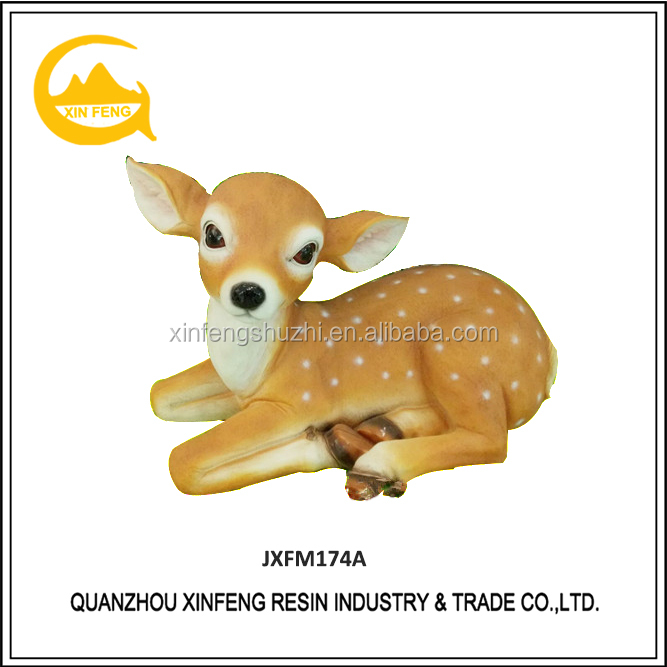 Life size deer resin animal statues for sale