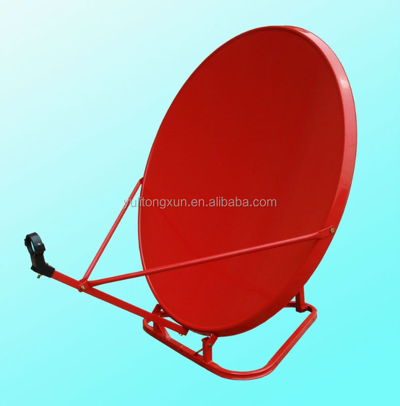 high quality ku band portable 75cm satellite dish antenna in suitcase