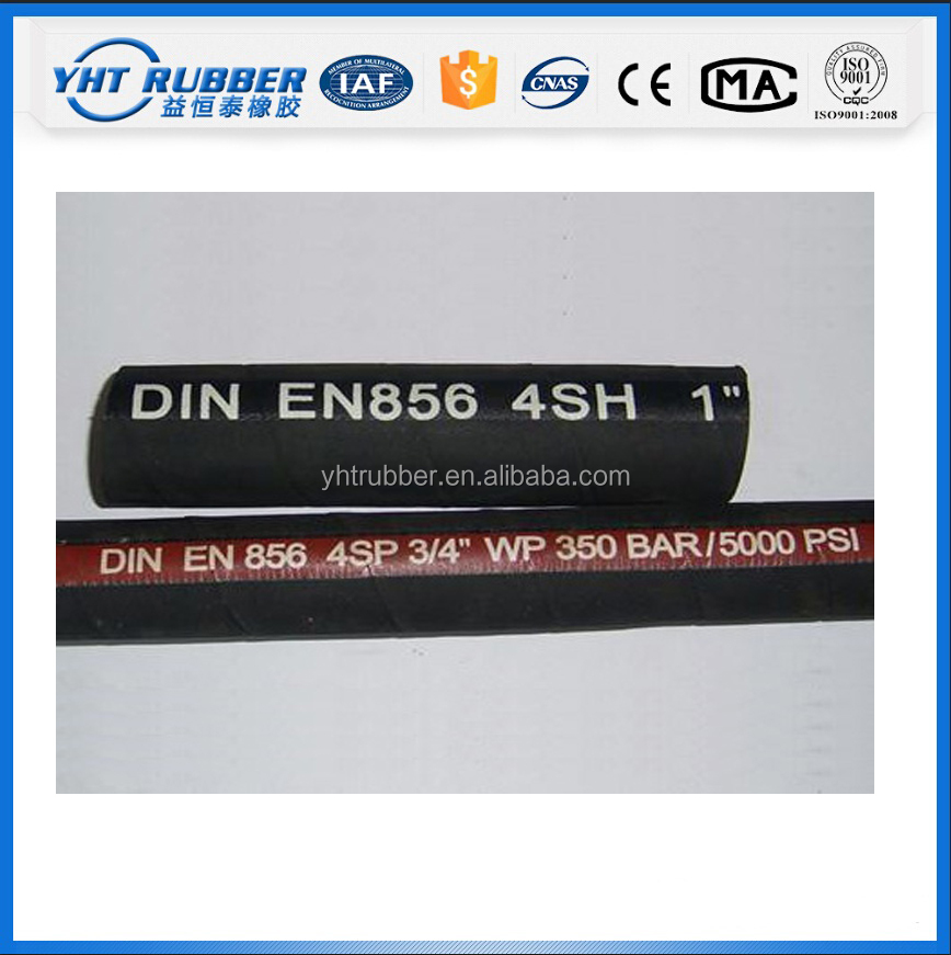 EN857 1SC High Pressure rubber pipe / Hydraulic Flexible hose pipes
