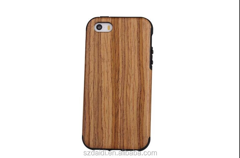 Manufacturer china phone case for iPhone 5se wooden case