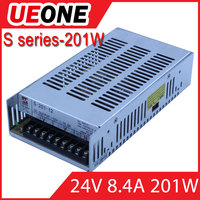 power supply 24v 8.3A,201W single output led driver,CE RoHS approved s-201-24