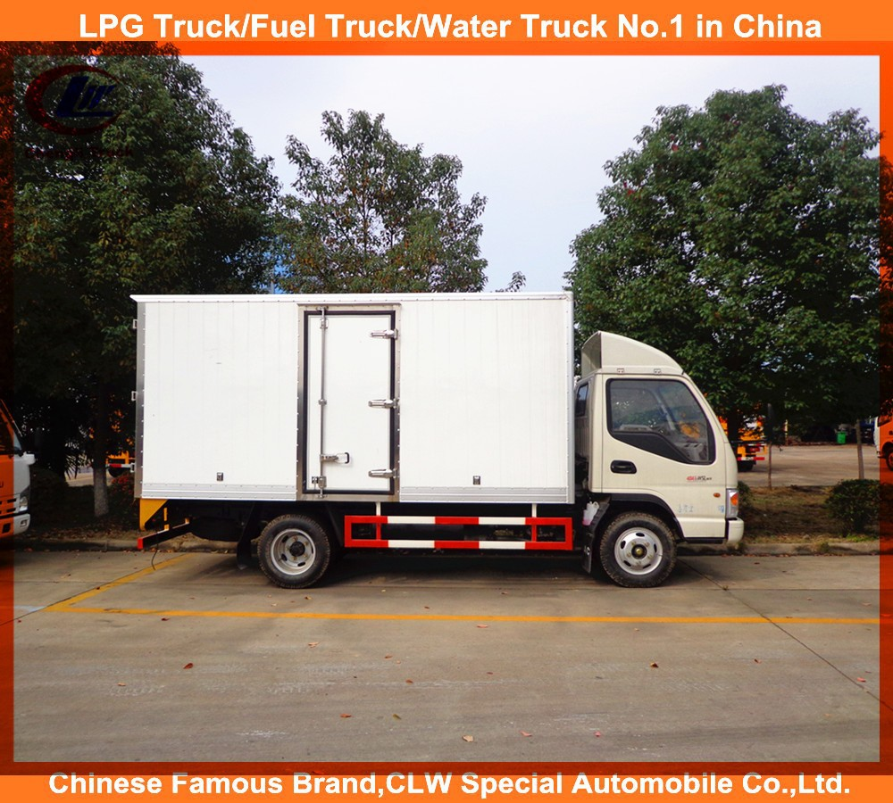 Vegetable meat transportation mobile cooling van truck mini freezer truck Jac thermo king refrigerated van for sale