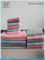 low price China factory 100% bamboo stock bath towel