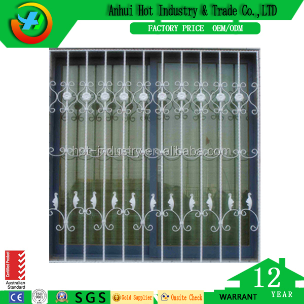 China supplier sliding window with security steel grill for homes design /aluminum windows