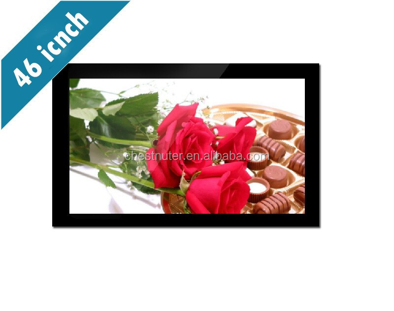 "46"" Wall mounted ultra slim Wifi 3g 4gb dual core all in one tv with Android 4.0 LED 1920X1080p silver case"