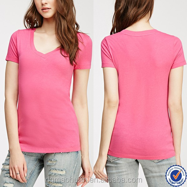 cheap custom ladies valentine's day T-shirts in casual t shirts for women wholesale clothing in china