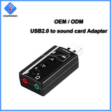 Factory Supply wholesale 5.1 Channel External 3D Usb Audio Adapter