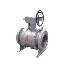 Gear Operated 6 inch 900LB WCB Cast Steel Flange End Self-cavity Pressure Relief Trunnion Ball Valve