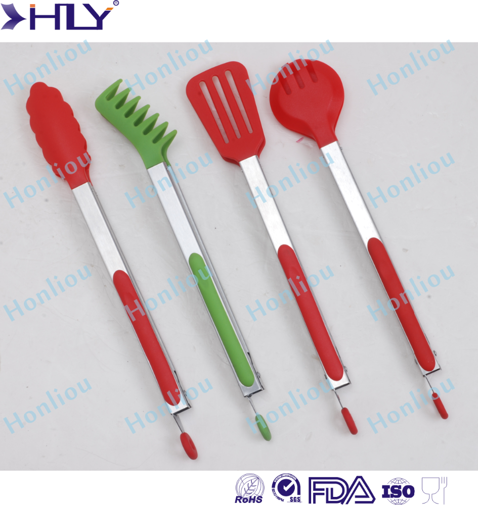 Silicone Heat Resistant BBQ food tong
