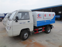 2 ton garbage transport truck dongfeng 3cbm sealed garbage dump truck for sale