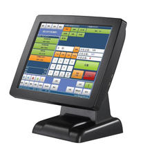 J1900 fanless touch screnn POS system all in one with printer, cash drawer and code reader