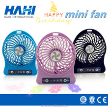 Shenzhen plastic air battery power portable cooling travel usb small mini rechargeable fan