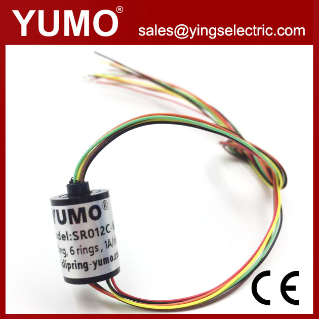 SR012C-6 OD12mm 6wires 1A camera application miniature capsule slip ring