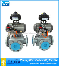 API 6D 3 way ball valve