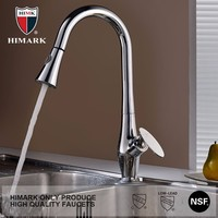 Polished chorme pull out upc kitchen sink faucet