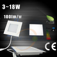 2014 newest ultra thin square/round 3w high efficiency 180 degree led panel light lamp ceiling down light