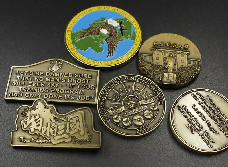 zinc alloy anti bronze challenge coin, custom make metal medal, nameplate