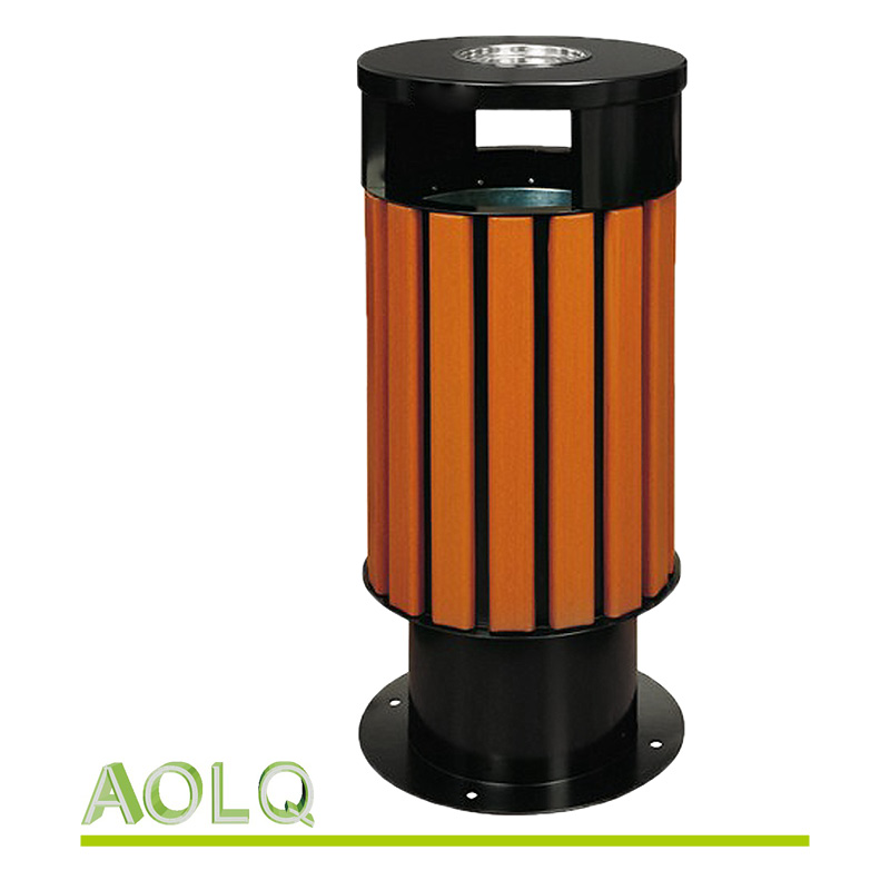 Outdoor wooden trash bin/wooden rubbish bin/waste bin