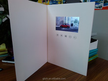 2014 new LCD Greeting Card/LCD advertising book/Video Brochure