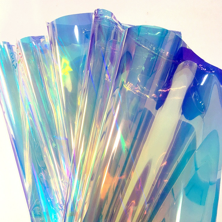 Rainbow transparent iridescent  lamination film for making cosmetic bags