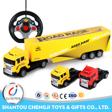 New low price factory wholesale rc custom toy semi trucks with light