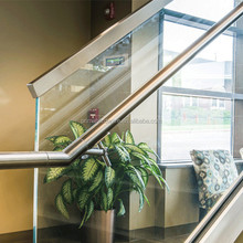 Types of aluminum profiles stair glass railing prices