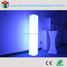 LED tall square wedding column/wedding decoration led lights for party lighting