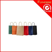 durable name brand kraft paper shopping bag
