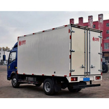 china howo 4x2 mini cargo box van truck low price sale in dubai