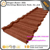 Classical roof tile clay durable colorful stone coated steel roofing tile
