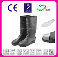 Popular colorful PVC material safety rain boot