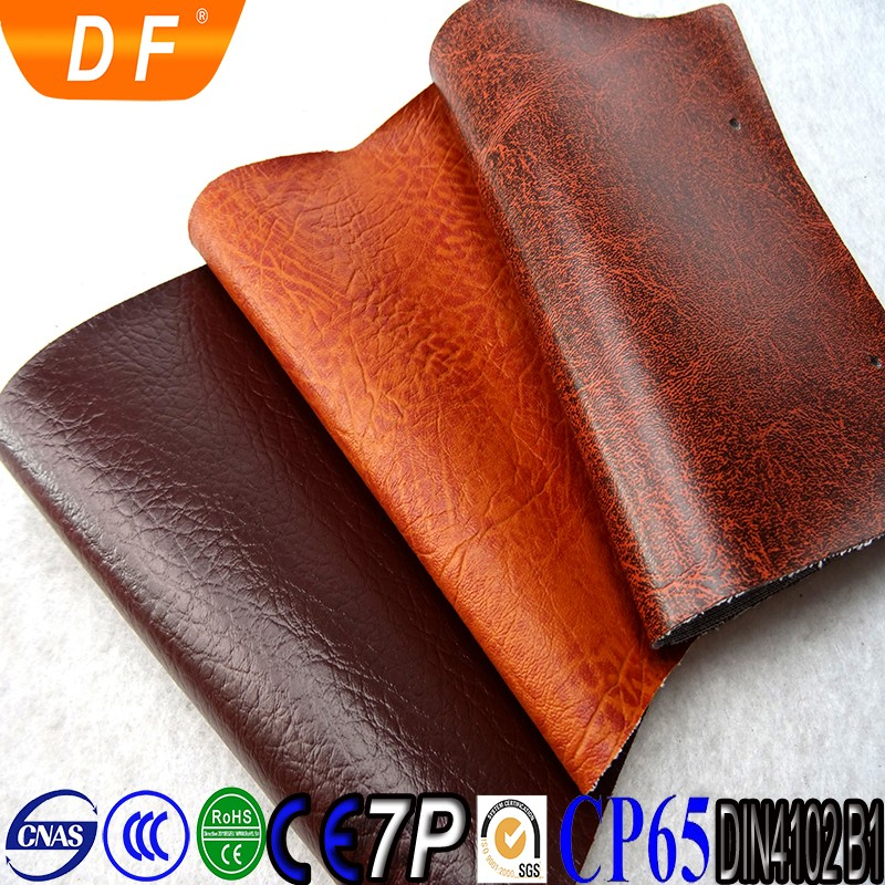 sofa pvc raw material rexine leather upholstery fabric 2018 factory