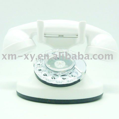 white vintage telephone