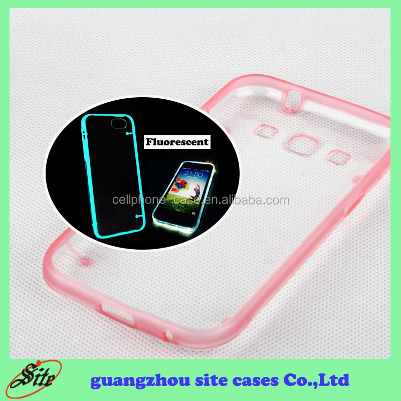 Crystal clear glow in the dark hard cover for Samsung I8552 back transparent case