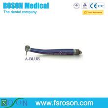 Hot selling 2 or 4 Hole Standard Head Push Button Single Spray Blue Highspeed Handpiece