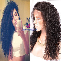 Sunnymay Wholesale Price 2016 New Fashion Unprocessed Full Lace Wig Brazilian Virgin Hair 100% Human Hair 300% Density Wig
