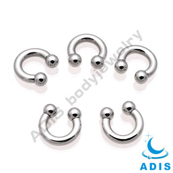 big size cheap horseshoe nose piercing internally threaded