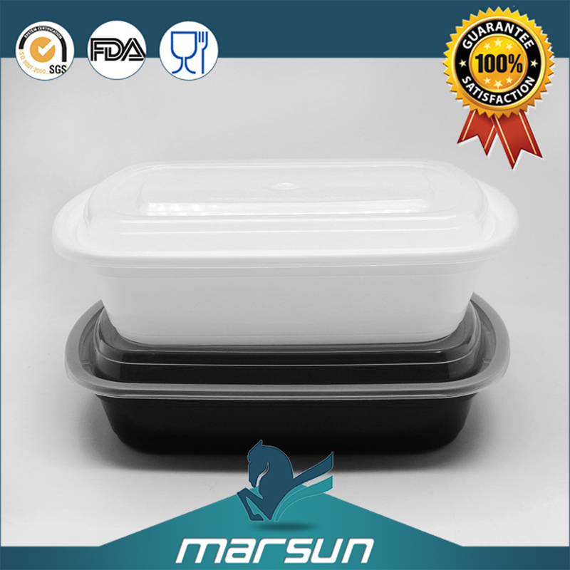 Disposable Lunch Fast Food Snack Box Fastfood Container for Microwave Oven Transparent 850/1000ml