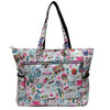 2014 wholesale trendy printing patterned waterproof polyester tote beach bag ,women fashion holiday vocation tote beach bag