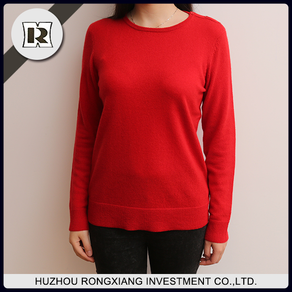 Chinese sweater company young lady long sleeve sweater