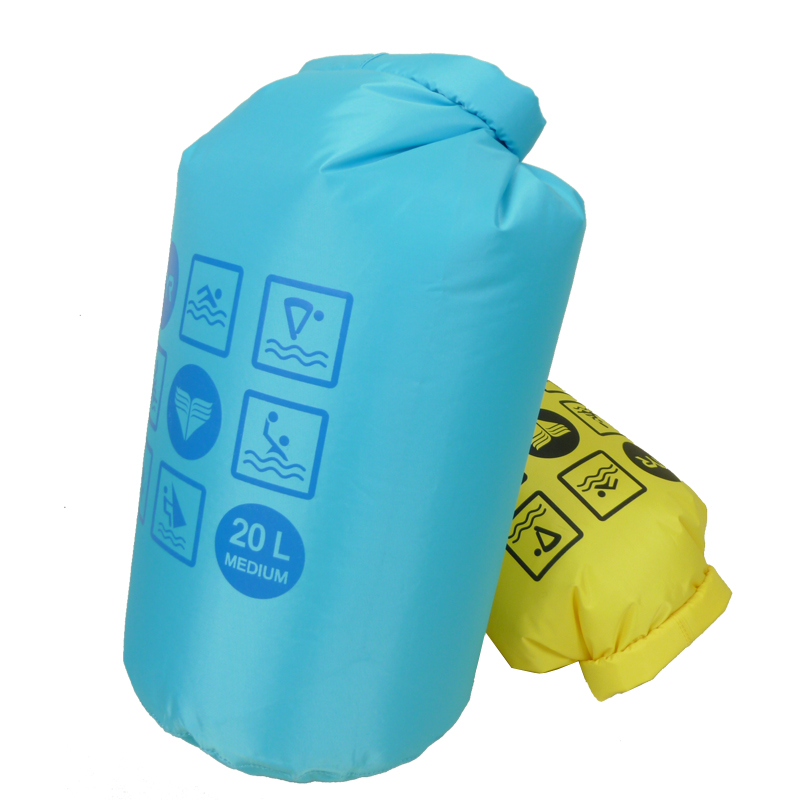 PVC Wholesale lightly weight Waterproof Outdoor sport Green Blue dry bag with printing logo for pack